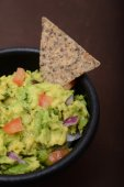 Guacamole and bean chip — Stock Photo