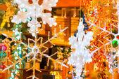 美丽的玻璃雪花为圣诞假期的 — 图库照片