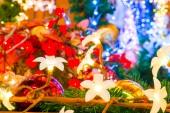 Bela guirlanda floral para as férias de natal — Foto Stock