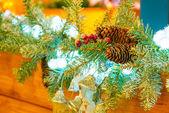 Festiva decoração de natal para o lar — Foto Stock