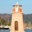 Lighthouse at sunset in the port Marmaris — Foto de Stock   #55865479
