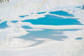 Basins of Pamukkale unusual natural feature in Turkey — Stock Photo