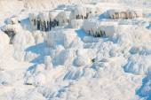 Famous tourist destination in Turkey, Pamukkale — Stock Photo