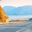 Pass mountain road and city views — Stock Photo #57785369
