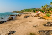 Beautiful sandy beach in North Goa — Photo