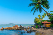 Beautiful view of the morning beach Goa — Stock Photo