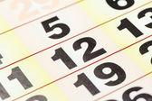 Calendar date close-up shot — Stock Photo