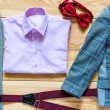 Children's costume for the boy top view — Stock Photo #79957416