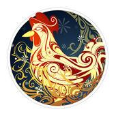 chinesisches neujahr 2017 hahn horoskop symbol stockvektor akv lv 106704778. Black Bedroom Furniture Sets. Home Design Ideas