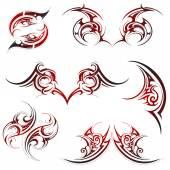 Tribal tattoo set — Stock Vector