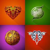 Various emblems set — Stock Vector