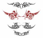 Body art tattoo — Stock Vector
