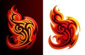 Fire flame variations — Vecteur