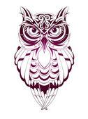 Owl tattoo — Stock Vector