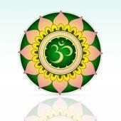 Indian sacred symbol Aum — Stock Vector