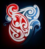Tribal tattoo shape Maori origin — Stock Vector