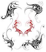 Set di tatuaggio tribale — Vettoriale Stock