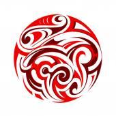 Maori tattoo — Stock Vector