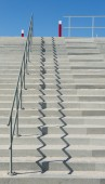 Concrete Stairs at Beach — 图库照片
