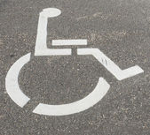 Disabled Sign on Street — Stock Photo