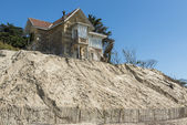 House Erosion at Beach — Foto de Stock