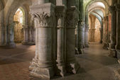 Pillars in Crypt in Church in Saintes France — Stock Photo