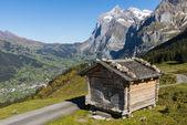 Cabin Grindelwald Wetterhorn — Stock Photo