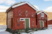 Two Old Cabins Hjerkinn — Stock Photo