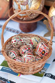 Traditional Romanian Easter eggs, close up — Stock Photo
