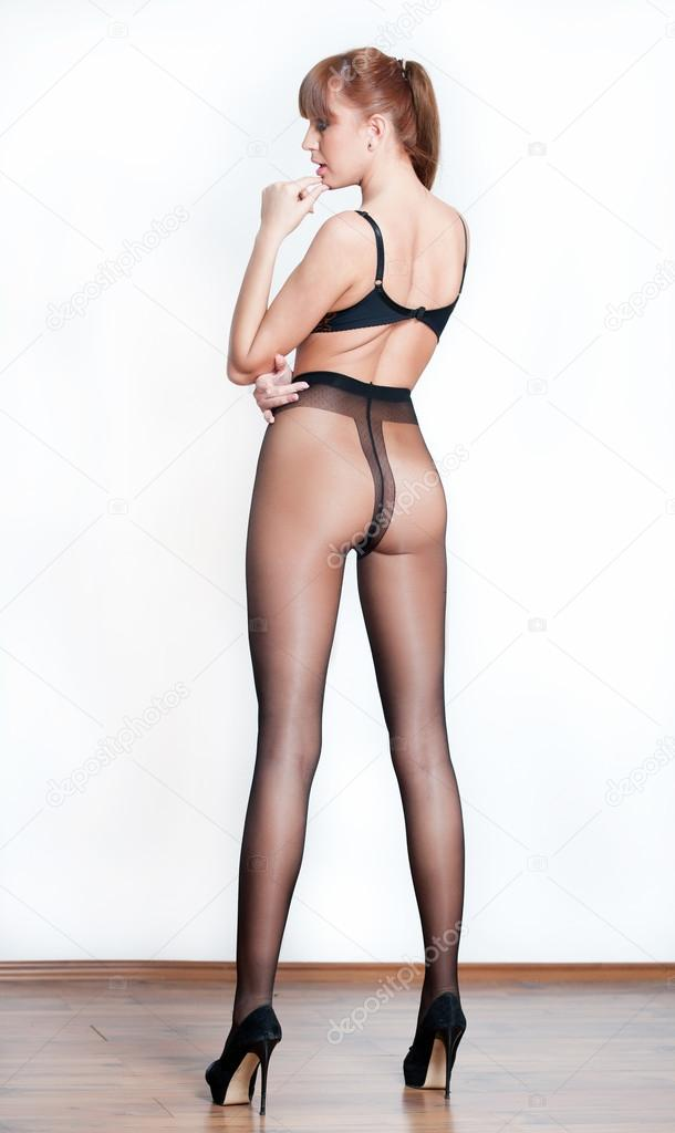 Stockings Back Attractive 102