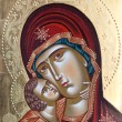 Painted icon of Virgin Mary and Jesus Christ. Painted Virgin Mary and Jesus Christ by unknown painter — Stock Photo #58666659