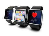 Smart watches collection — Stock Photo