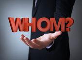 Whom businessman — Stock Photo