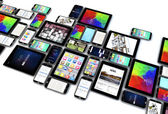 Collection of tablets and smartphones — Stock Photo