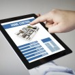 Tablet with home control app — Stock Photo #68267297