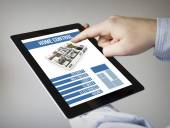 Tablet with home control app — Stock Photo