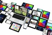 Technology concept: devices collection — Stock Photo