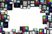 Blank devices frame — Stock Photo
