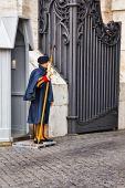 Vatican swiss guard — Stock Photo