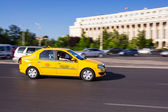 Taxi in Bucharest — Stock Photo