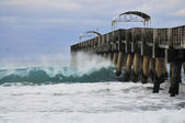 Pier and the Surf — Stock Photo