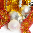 Christmas balls and tinsel as symbol of New Year — Stock Photo #58267661