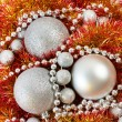 Christmas balls and tinsel of New Year — Stock Photo #58267883