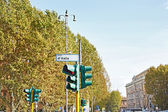 Traffic lights on street of city — Stock Photo