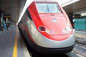 High-speed train in station — Stock Photo