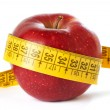 Apple and measuring tape isolated — Stock Photo #62959101