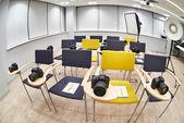 Training class in modern photography school — Fotografia Stock