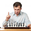 Man playing chess isolated — Stock Photo #68870681