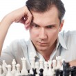 Man playing chess isolated — Stock Photo #68871051