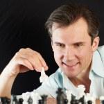 Man playing chess — Stock Photo #68902561